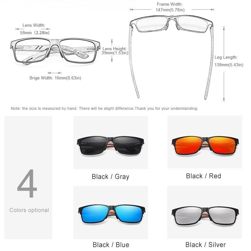 KINGSEVEN Brand New Design Aluminum Walnut Wooden Handmade Sunglasses Men Polarized Eyewear Accessories Sun Glasses For