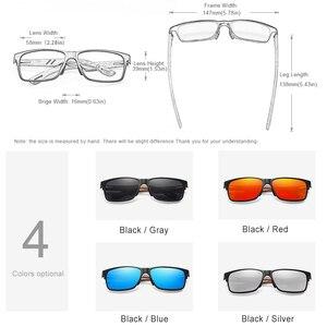 Image 2 - KINGSEVEN Brand New Design Aluminum+Walnut Wooden Handmade Sunglasses Men Polarized Eyewear Accessories Sun Glasses For Women