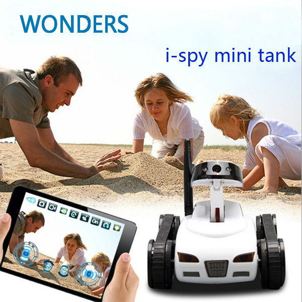 Mini i-Spy 4CH RC Tank Controlled by IPhone/iPad/Android/IOS Wifi Camera Remote Control Toys 777-270 Best Gift HOT SALE 2015