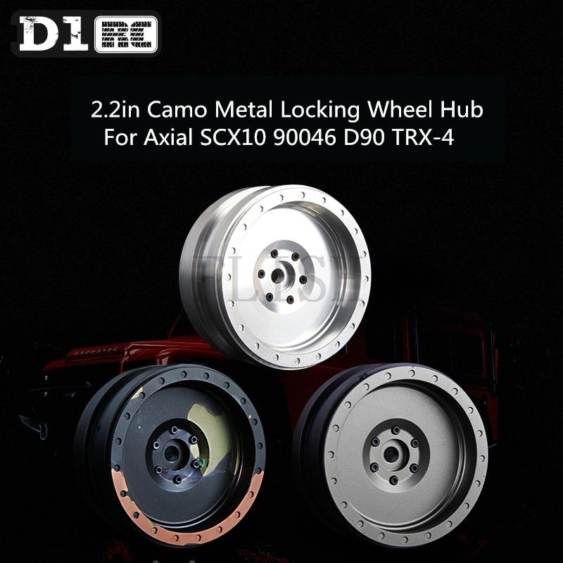 One PCS D1RC Wheel 2.2in Camo Metal Locking Wheel Hub For Axial SCX10 90046 D90 TRX-4 1 pcs wheel locking hub 26 teeth manuel 43509 35030 for toyota hiace hilux 4 runner liteace