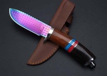 High-grade Damascus knife Basic Damascus steel knife outdoor boutique gift collection straight knife cutting tools