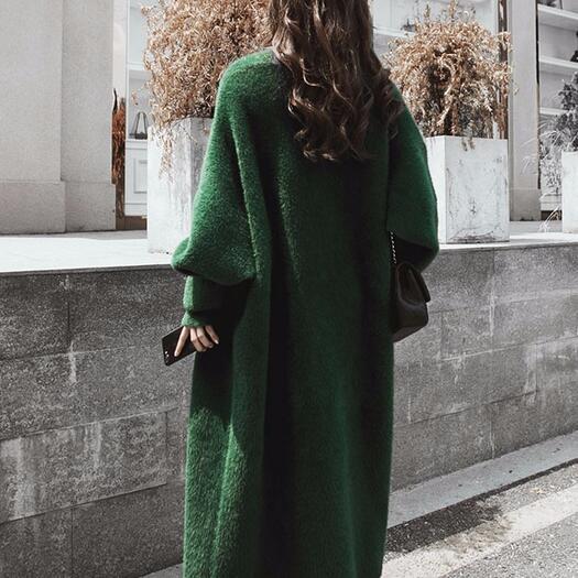 E Cardigan Womans Maglione Cappotti Signore Dc469 2019 Delle Del Autunno Maxi Inverno Lungo Di zHHdWqFpR