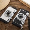 2016 más nuevo de la cámara caja del teléfono para iphone 7 7 plus 6 6 s 6 más 6 s más el Estilo de la Novela de silicona suave Correa Larga Cuerda contraportadas