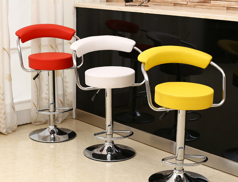 Pubic house chair KTV Hot Selling Liftable Bar Chair PU Leather red white black yingyi hot selling modern abs plastic dining chair without arms white black red color
