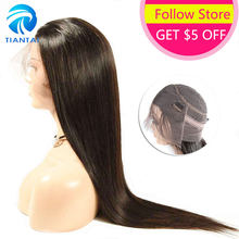 TIANTAI Malaysian Remy Hair Wigs 360 Lace Frontal Wig with Baby Hair Straight Pre Plucked Human Hair Wigs 8-22inch 150 Density(China)