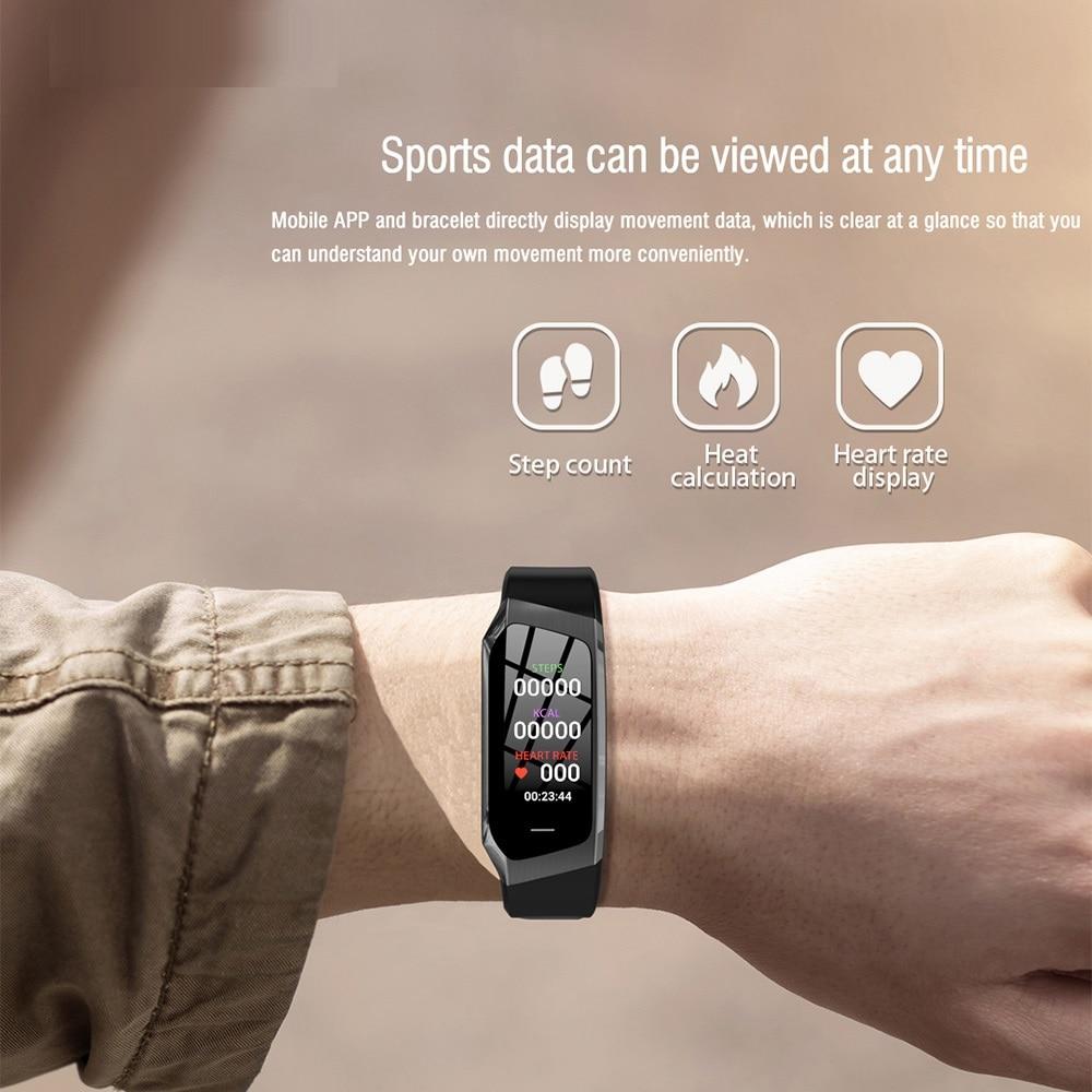 Смарт часы с Bluetooth, умные Цвет Сенсорный экран для мужчин женщин Детский Браслет спортивный браслет Хуа Вэй Сяо mi полосы для IOS Android E18 - 5