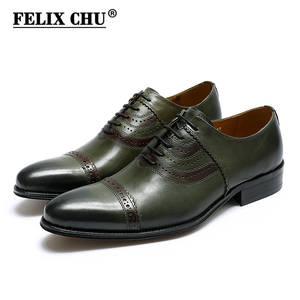 6b0242233ac Felix Chu Genuine Leather Oxfords Wedding Mens Dress Shoes