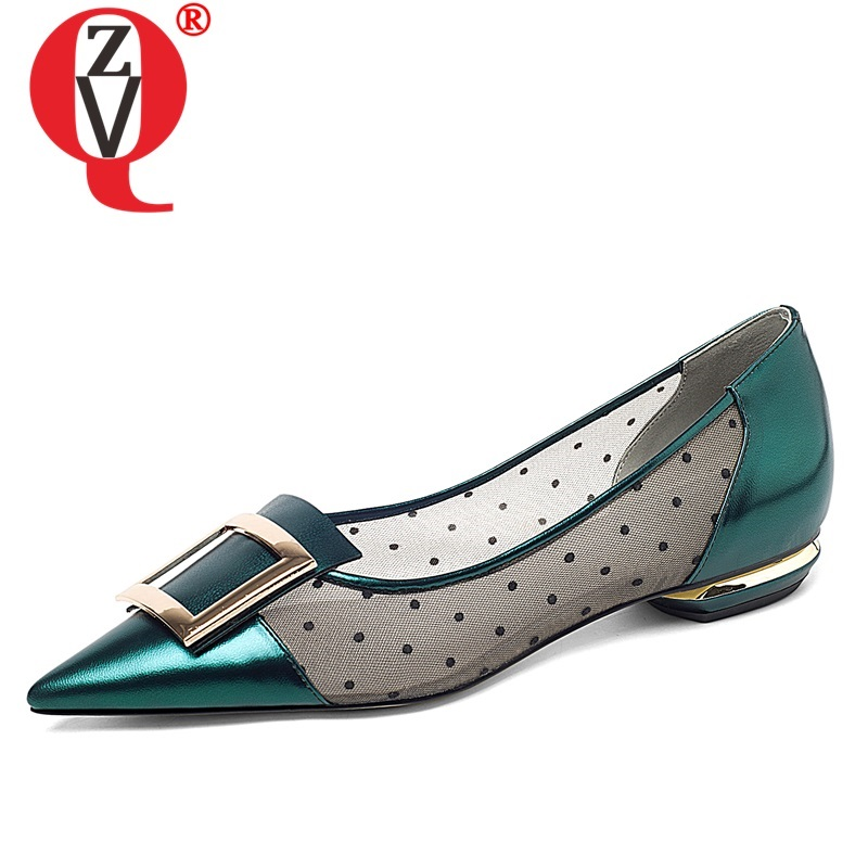 ZVQ woman shoes spring summer newest fashion pointed toe genuine leather woman flats outside comfortable plus size ladies shoesZVQ woman shoes spring summer newest fashion pointed toe genuine leather woman flats outside comfortable plus size ladies shoes