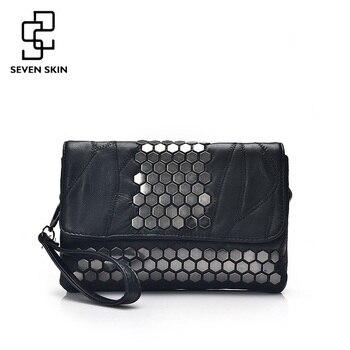 Семь кожи бренд Для женщин Курьерские сумки Пояса из натуральной кожи женские сумки модные дизайнерские Высокое качество сцепления сумка д... >> Shop2132198 Store