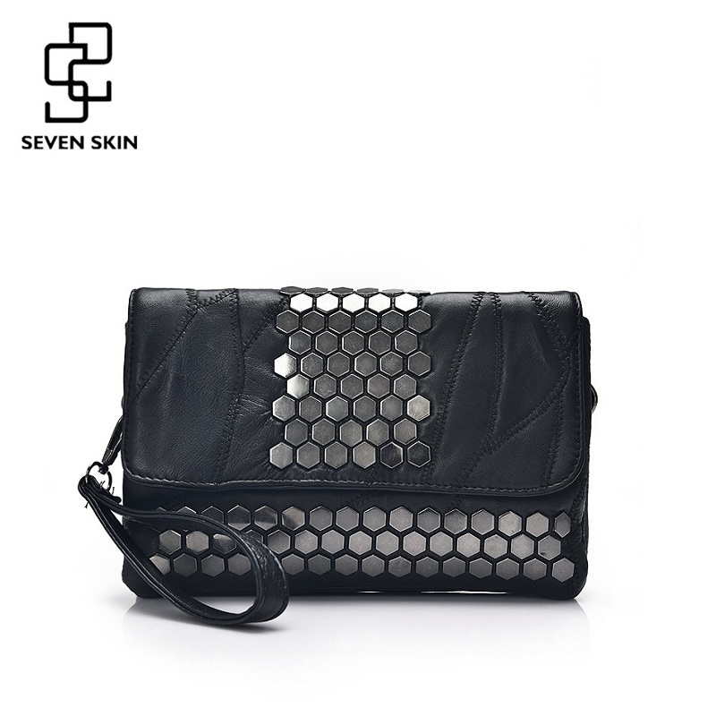 SEVEN SKIN Brand Women Messenger Bags Genuine Leather Female Handbag Fashion Designer High Quality Clutch Shoulder Bag for Women все цены