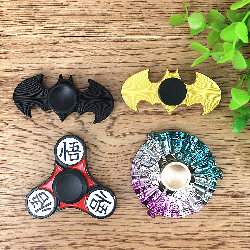 Batman Shape Dragon Ball Wukong Design Metal Fidget Hand Spinners CE Approval Gyro Toys For ADHD
