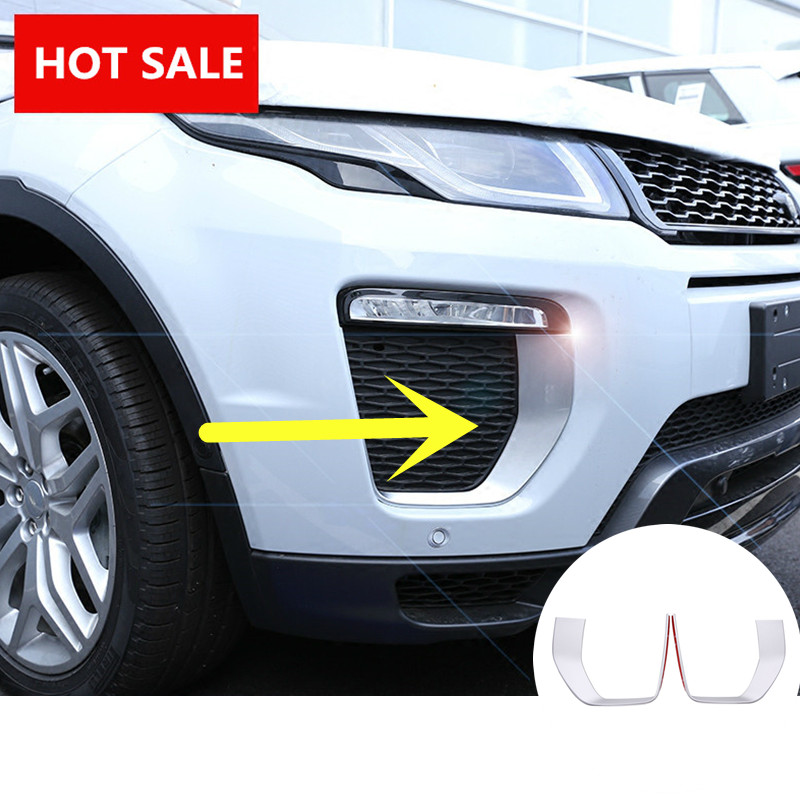 ABS Front Fog Light Lamp Cover Trim For Land Rover Range Rover Evoque 2016 Only Fit