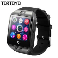 цена TORTOYO Q18 Smart Watch Phone Touch Screen Support Music Camera Bluetooth TF/SIM Card Sport martwatch for IOS Android PK GT08 U8 в интернет-магазинах
