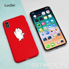 cute cartoon Funny Dancing cat mobile phone protection shell for iphone 7 8 plus 6 6s 6splus iphone X phone case Ultra-thin TPU