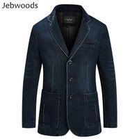 Denim Jacket Men Spring Blazer Suits Jacket Mens Business Leisure Suits Cowboy Westerner Male Jeans Coat Multi Pocket Size M~4XL