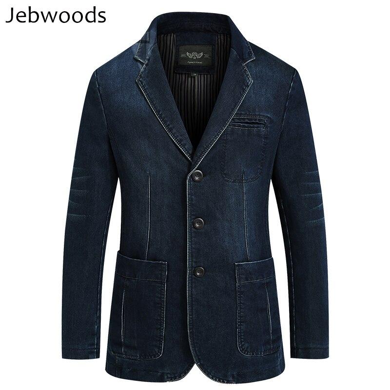 Veste en jean hommes printemps Blazer costumes veste hommes d'affaires loisirs costumes Cowboy occidental mâle Jeans manteau Multi poche taille M ~ 4XL