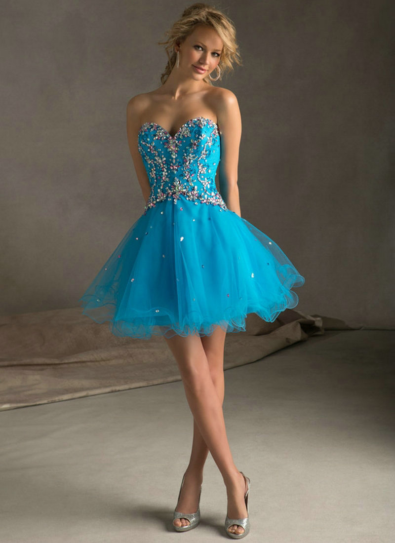 Aliexpress.com : Buy Purple Blue Tulle Corset Back Sweetheart ...