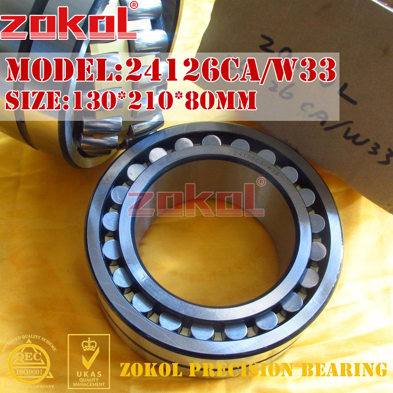 ZOKOL bearing 24126CA W33 Spherical Roller bearing 4053726HK self-aligning roller bearing 130*210*80mm mochu 24126 24126ca 24126ca w33 130x210x80 4053726 4053726hk spherical roller bearings self aligning cylindrical bore