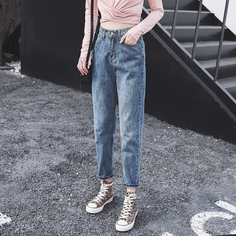 Cheap Wholesale 2019 New Spring Summer Autumn Hot Selling Women's Fashion Casual  Denim Pants BP72