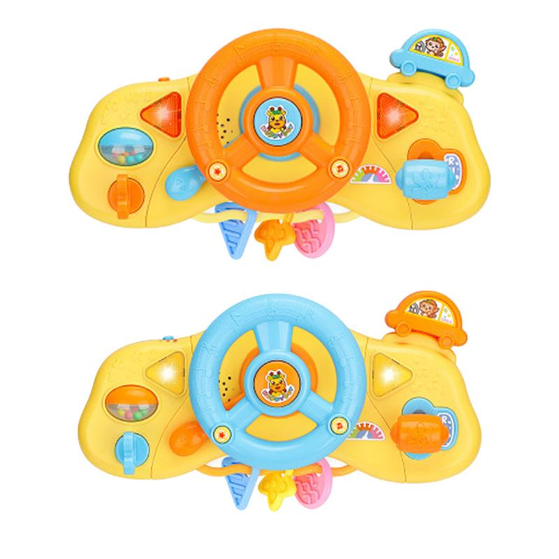 Children's Educational Toys For Children Multi-function Simulation Steering Wheel Toy LED Sound And Light Baby Toys 0-24 Months