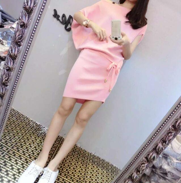 Mr. nut 2009 Summer New Fashion Irregular Cut Ice Silk Knitted Slim Dresses Womens Loose Leisure College Style Tide