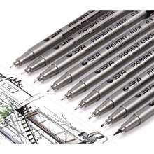 Waterproof Black Pigment Liner Pigma Micron Fineliner Sketching Comics Manga Art Marker Pen For Drawing School Office Stationery