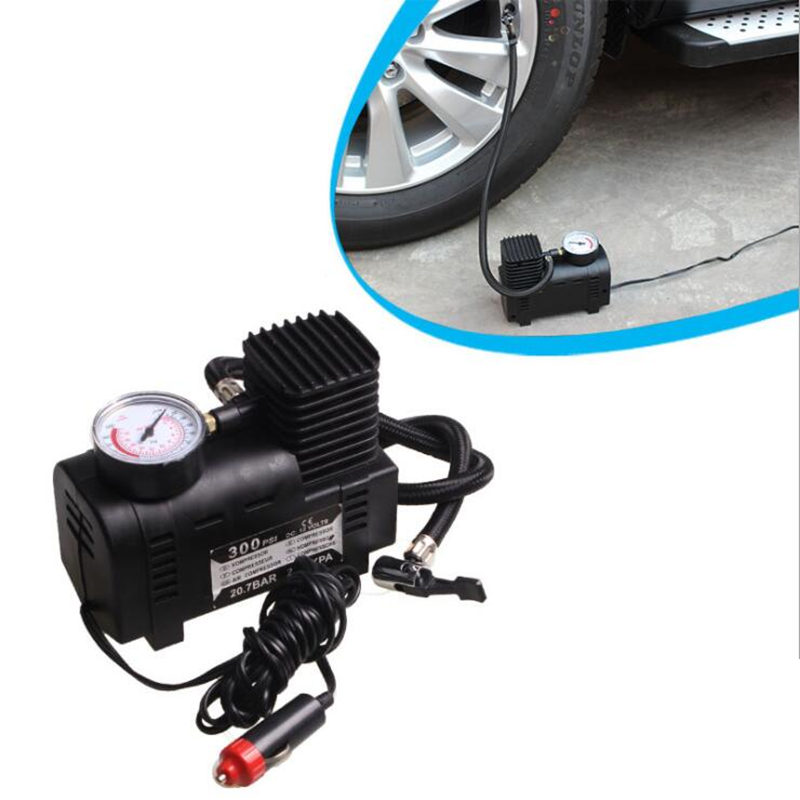 dc12v 300psi car tire inflator auto air compressor tire. Black Bedroom Furniture Sets. Home Design Ideas