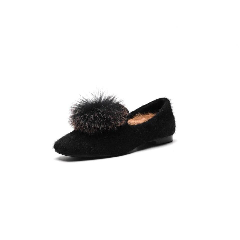 Alta Negro Las Calidad Forro Bola Bombas 2 Suave La Pelo Caliente El Otoño De Tela Y Zapatos Mujeres Invierno Decoración wq78Fxz