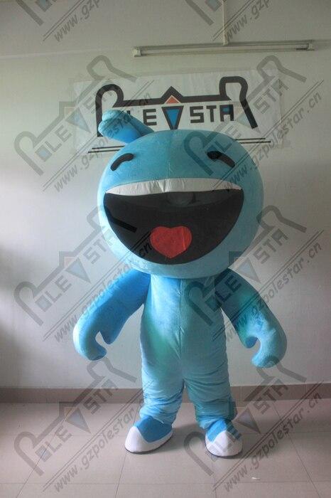 Costume de mascotte de poupée de dessin animé de visage heureux mes costumes de mascotte de monstre chantant
