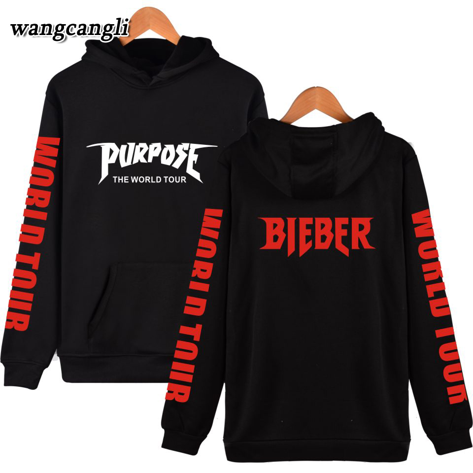 2016 Fashion Purpose Tour Hooded Hoodies Justin Bieber Hoodies And Sweatshirts Super Star Clothing Plus Size 4xl Hoodies & Sweatshirts