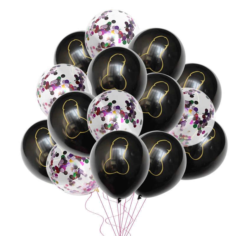 Globos de fiesta de despedida de soltera suministros YAY el mismo pene para siempre baloones de pene confeti globo despedida de soltera fiesta de noche boda globo