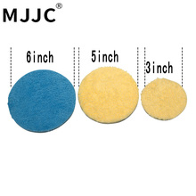 Mjjc микрофибры Резка Pad полировка с 3 Дюймов, 5 дюймов, 6 дюймов, 3 варианта размера