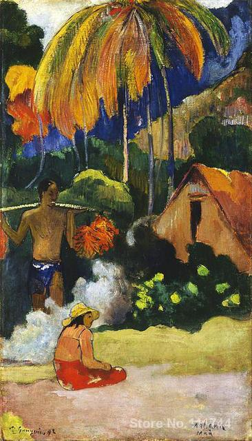 French impressionists art Landscape In Tahiti by Paul