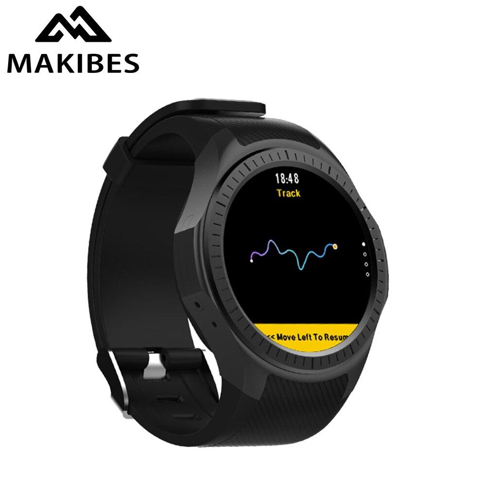 Makibes G05 Pro GPS Bluetooth MTK2503 Fréquence Cardiaque Moniteur de Pression Artérielle Réponse Appel Caméra SIM Multi-mode Sport montre connectée