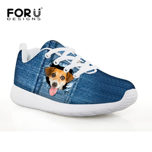 Funny Animals Children Shoes 2018 Spring Autumn Sport Lace-up Sneakers Kids Running Soft Botton Shoe Christmas Breathable Mesh