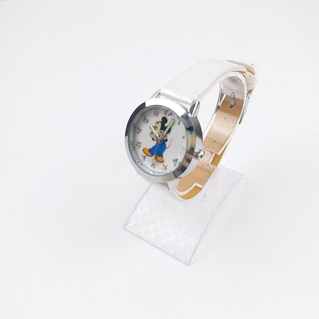 2018 Più Nuovo Bello Del Fumetto di Mickey Mouse Orologi Delle Ragazze Dei Ragazzi di Cuoio Cinghie Per Bambini Orologio di Tempo di Orologio Da Polso Al Quarzo Orologi Relogio