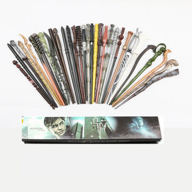2017 Harry Potter COS gran venta nuevo Harry Potter Magic Wand morthly Hallows Hogwarts regalo varita mágica Voldemort caja de regalo embalaje