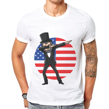 New Summer Mens Tshirts Abraham Dabbing Style Printed Hip Hop T Shirt Men Cotton Short Sleeve O-Neck Tees Ropa Hombre De Marca