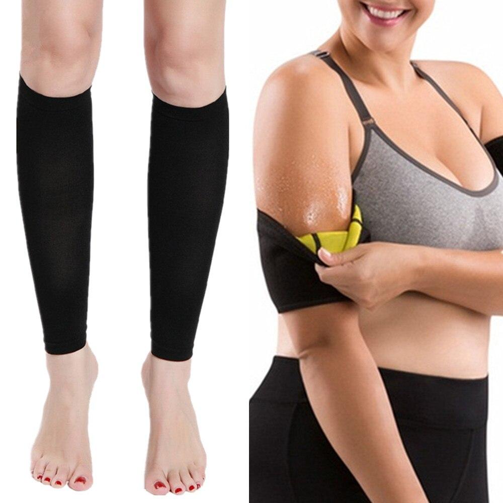 0ea8c9d8b1 Hot Body Shaper Womens Shapewear Slimming Thigh Belts Sauna Leg Sweating  Calf Trainer Fitness Slimming Weight Loss Arm Shapewear-in Waist Cinchers  from ...