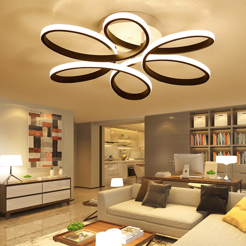 2017 Modern LED Acrylic Ceiling Lights fixtures For Bedroom Dining Room luminaire Simplicity Ceiling Lamp lamparas de techo