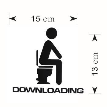 Downloading Funny WC Sticker 1