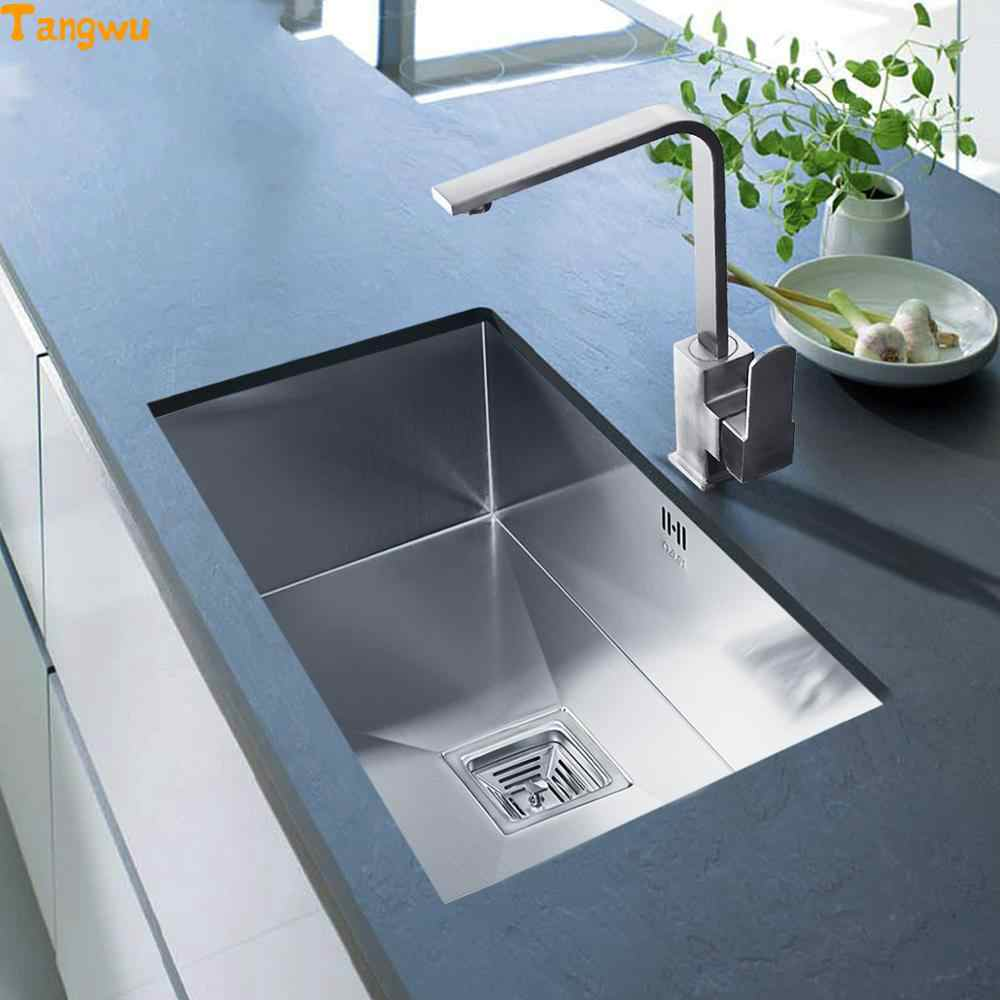 Free Shipping Vegetable Washing Basin Groove 304 Stainless Steel Undercounter Hand Slot Kitchen Sinks