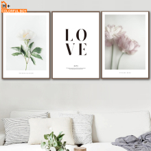 COLORFULBOY Wall Art Print Quotes Flower Nordic Posters And Prints Canvas Painting Pop Pictures For Living Room Decor
