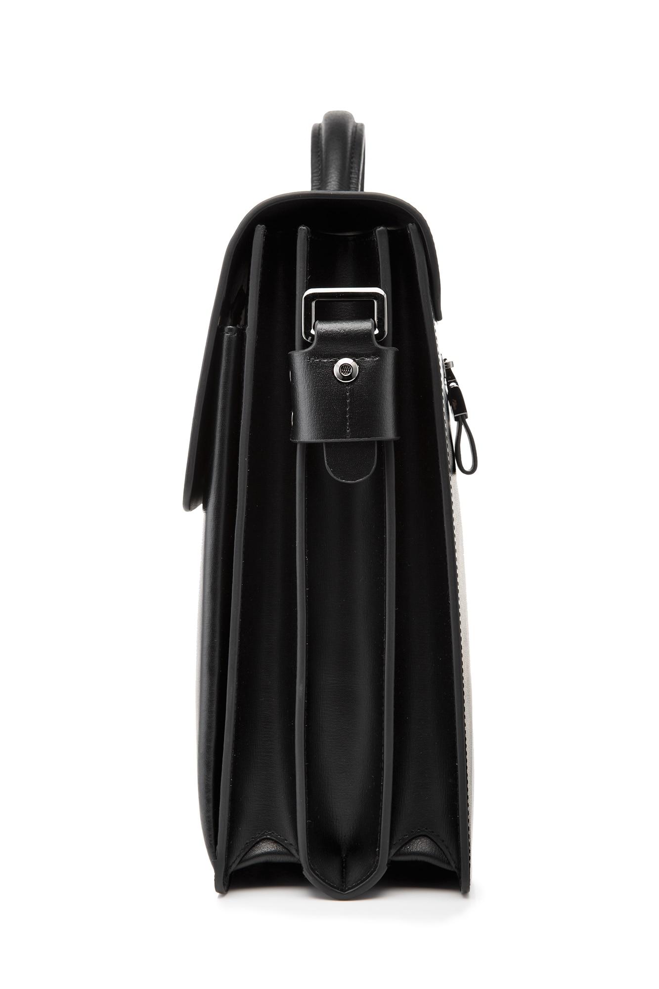 YINTE kožna crna torba muška aktovka velika i deblja torba torbica - Aktovke - Foto 4
