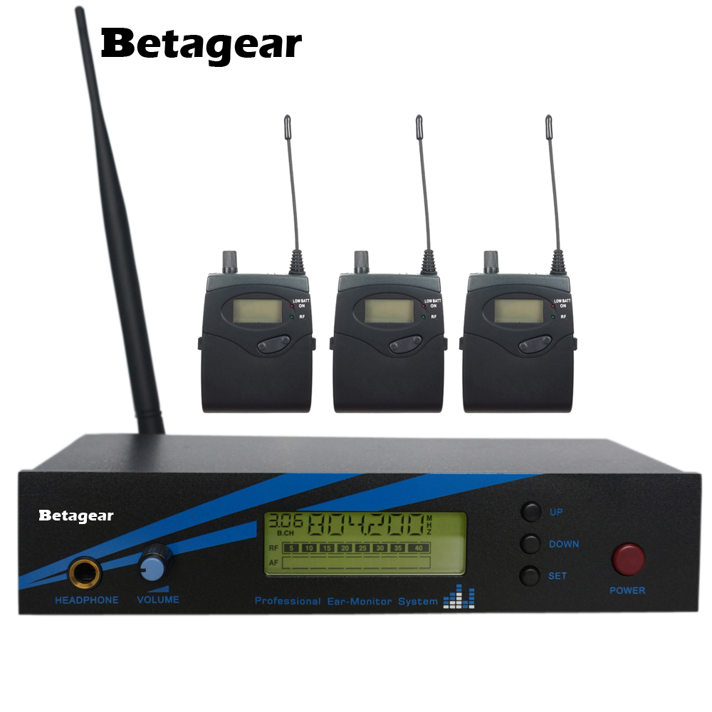 Betagear stage wireless in-ear monitor system 1 Transmitter 3 Receiver musical instruments pro audio dj equipments studio sound