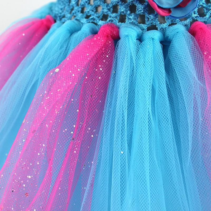7b4476e523f Date Design Élégant rose et Bleu Tutu Robe Avec Diamant Fleur Enfants Fille  Robes De Soirée Robes Pour Occasions Spéciales dans Robes de Mère et Enfants  sur ...