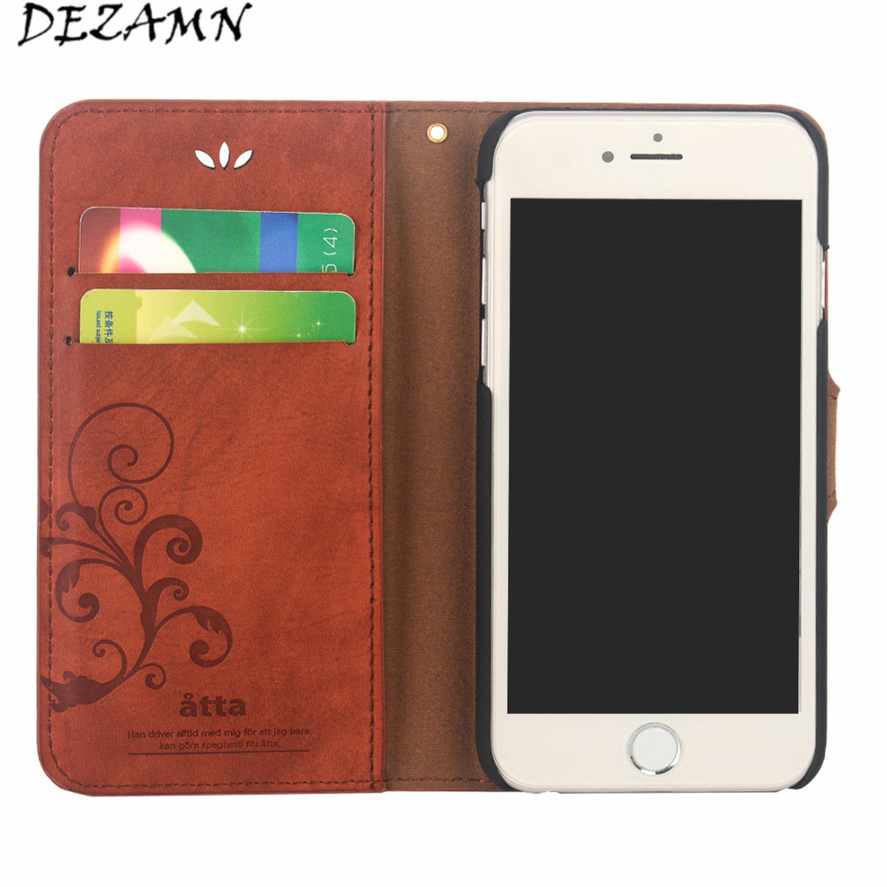 Luxury PU leather Retro Wallet Case For iPhone 6 6s 7 8 Plus Case Cards Holder Magnet Flip Cover Cases For iPhone 6 6Plus 7Plus