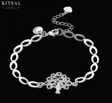online shopping india Life of tree silver bracelets bangles pulseras mujer collier plastron femme(China)