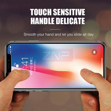 ZNP 0.26mm 9H Premium Tempered Glass For iphone X 8 7 6 6s Plus Screen Protector For iphone X 8 7 6 6s 5 5s 4 Protective Glass