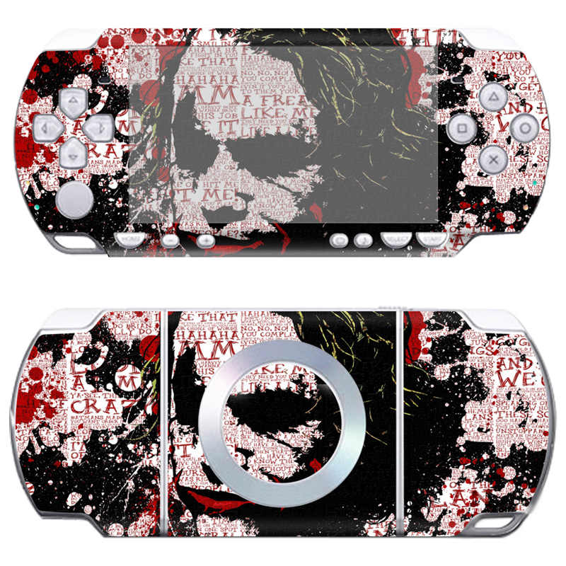Livraison directe gratuite vinyle autocollant protecteur vente chaude peau couverture autocollant pour Sony PSP 2000 # TN-PP2000-280